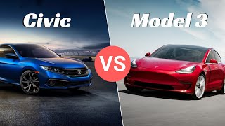 Tesla Model 3 vs Honda Civic - Why 400+ Miles Makes Sense