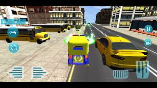 Police Tuk Tuk Auto Rickshaw Driving Game 2021- Tuk Tuk Rickshaw Game- iOS Android GamePlay screenshot 1