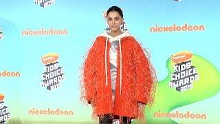 Naomi Scott 2019 Kids' Choice Awards Orange Carpet