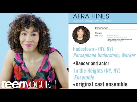 Broadway Dancer Explains Her Career Path, from First Job to Current | Teen Vogue