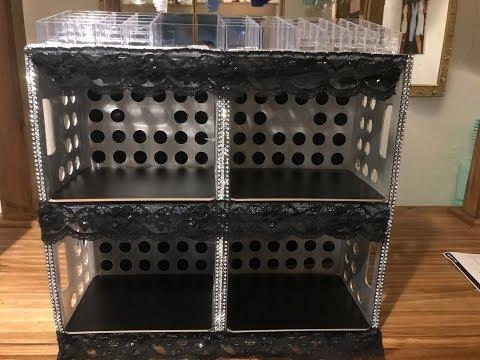 DIY Large Makeup Organizer  | I made it from milk crates!