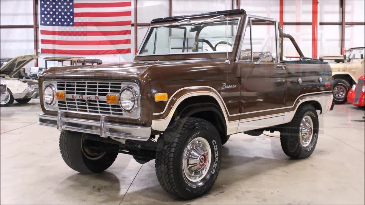 1975 ford bronco brown
