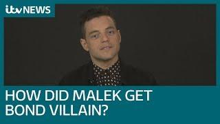 Rami Malek discusses bond villain role | ITV News