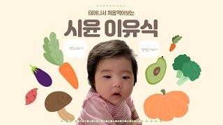 (시윤) 6개월아기 첫이유식 도전기!!!