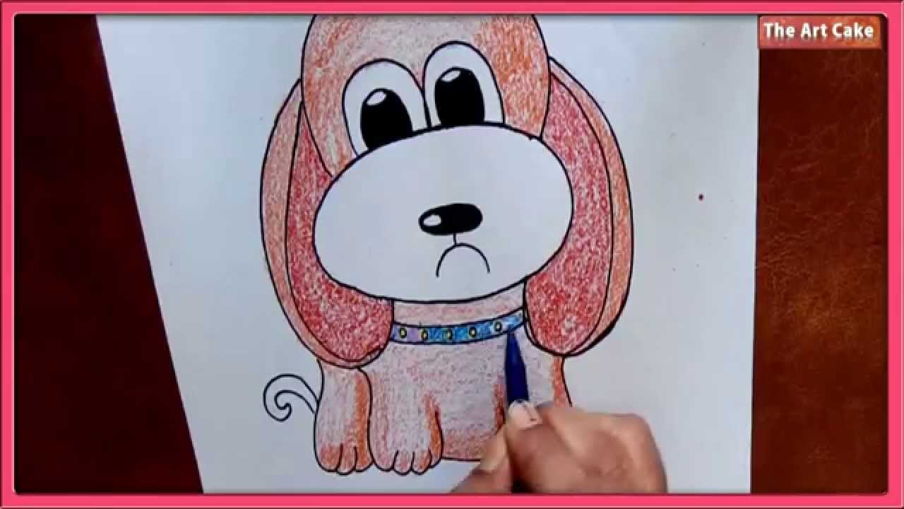 Scribble Drawing For Kids : How to draw a cartoon puppy easy drawing for kids youtube