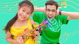 Kevin Plays With Musical Toy | Nora Family Show