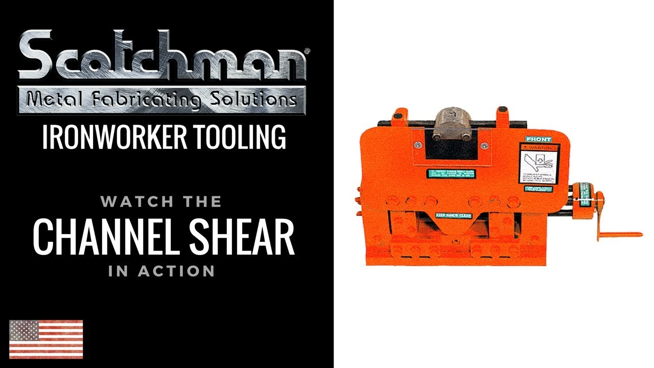 Channel Shear Tool On A Scotchman 65 Ton Ironworker