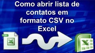 Como abrir lista de contatos em formato CSV  no Excel - MiTutoriais