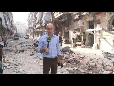 Report from Aleppo: Syrian rebels target residential apartments