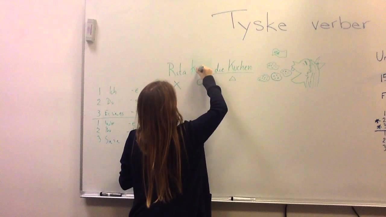 Tyske verber - Hvordan verbummet bøjes