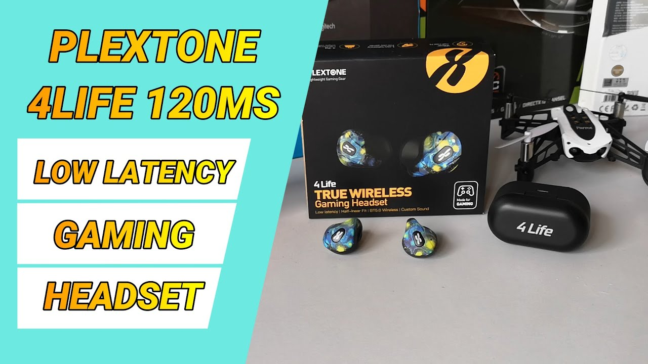 Unboxing Plextone 4life Colorful TWS Gaming Wireless Earphone 120ms Low Latency