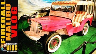 PINK JEEP WILLYS DRIVEN BY ELVIS PRESLEY BLUE HAWAII! - FIREBALL MALIBU VLOG 638