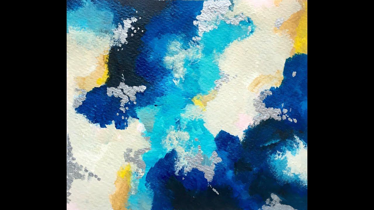 C mo empezar una pintura abstracta youtube for Imagenes de cuadros abstractos faciles