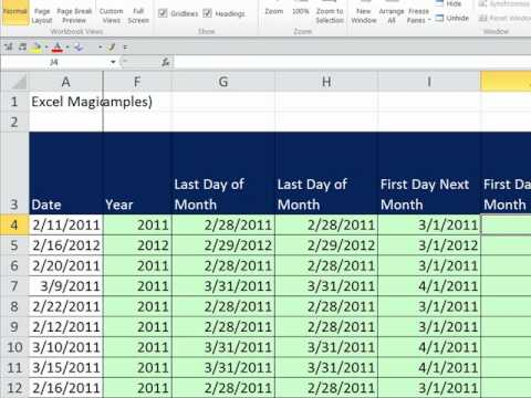 Excel Magic Trick 783: Date Functions & Formulas (17 Examples)