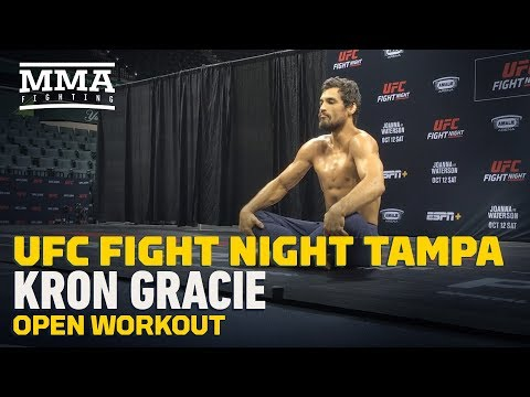 UFC Tampa: Kron Gracie Open Workout Highlights - MMA Fighting