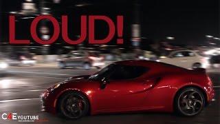 Alfa Romeo 4C HUGE ACCELERATION - Exhaust sound -