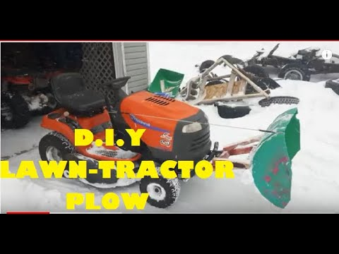DIY Lawn Tractor Snow Plow Cheap & Easy