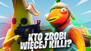 WHICH SKIN WILL DO MORE KILLI FORTNITE!? ŁYBA VS BANANA!
