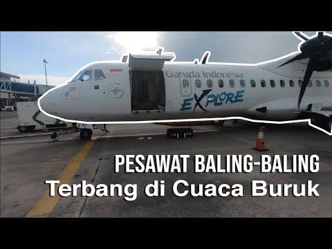 Terbang Saat Cuaca Buruk || Garuda Indonesia ATR 72-600 Surabaya Menuju Yogyakarta