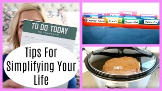 As a work at home mom i'm sharing 5 ways to simplify your life. kim, free family- https://youtu.be/v1cdvylmu4s sunday basket- https://www./watc...