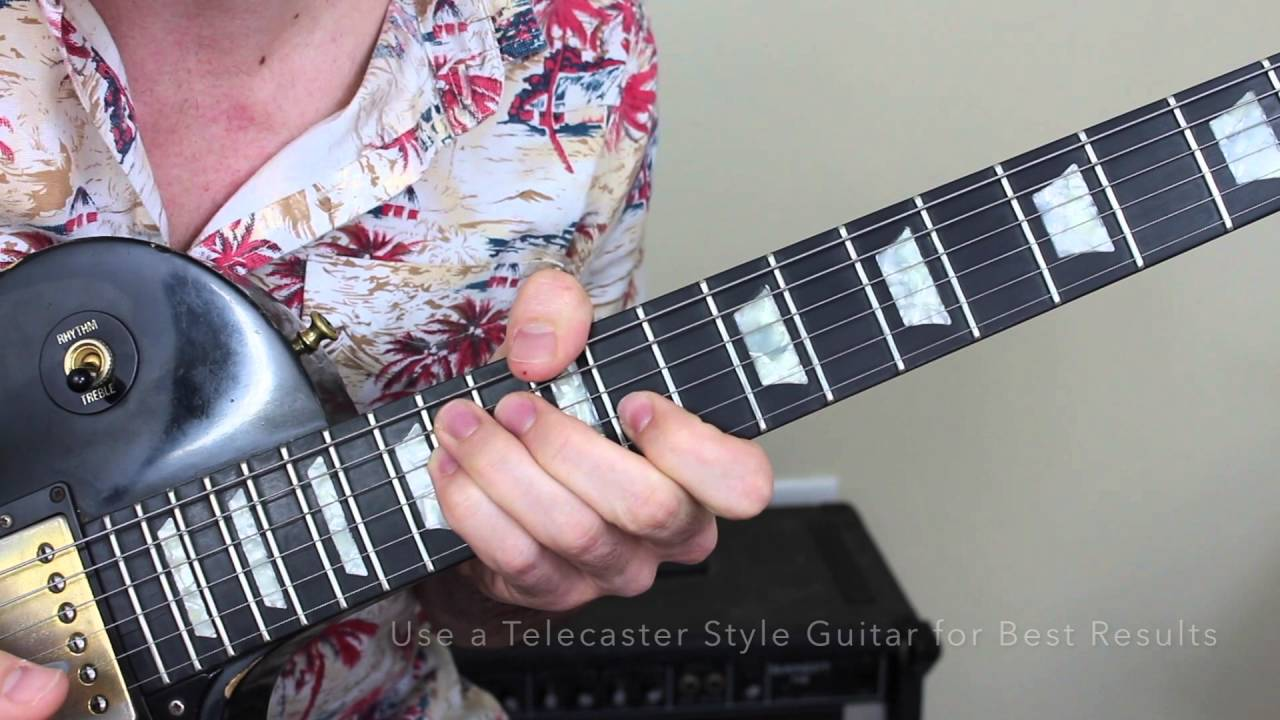 Very pity guitar lick pedal steel variant