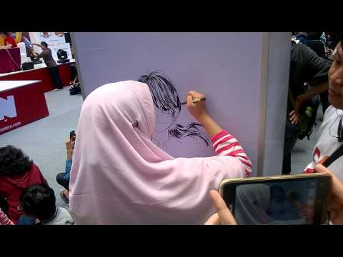 [42 mins] Sayuko live drawing session *u*bb [720p]