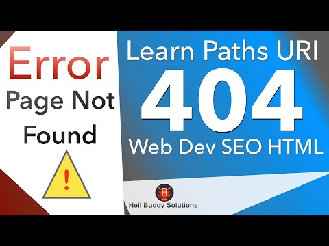 Error 404 Page Not Found - Learn Path Links - [HTML/PHP/SEO web ...