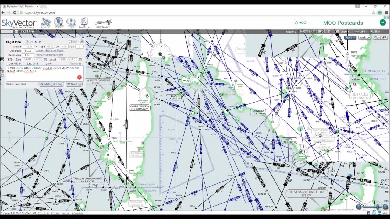 Skyvector flight vfr planning - Plan A Route In Skyvector