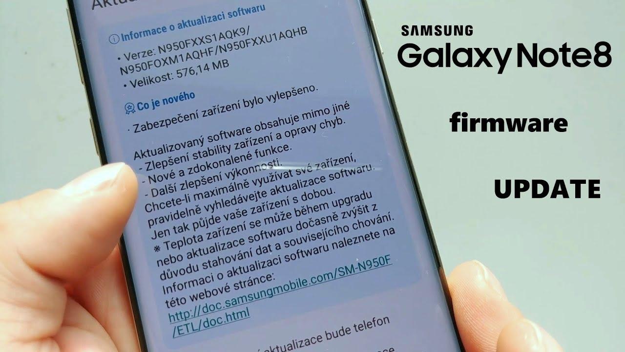 New Galaxy Update Note8 - Samsung Firmware n950fxxu1aqhb