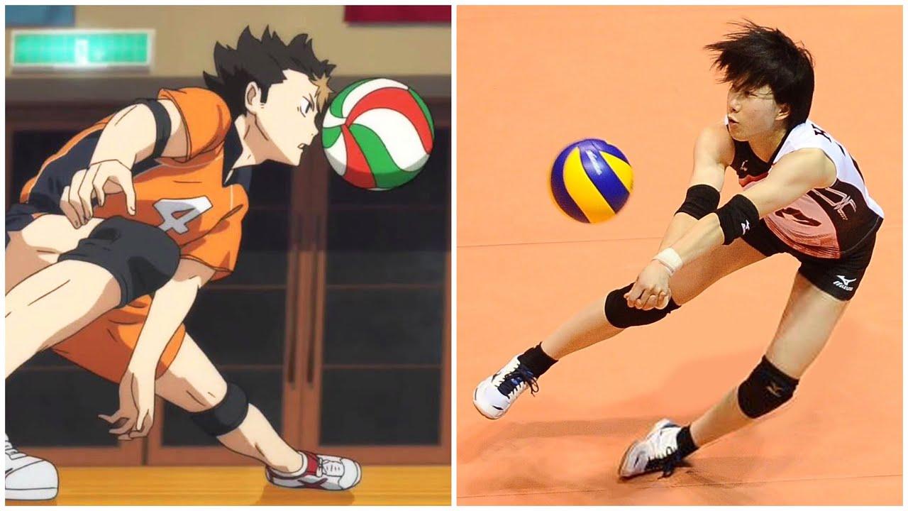 Women's Nishinoya in Real Life Volleyball   Crazy Volleyball Libero Mako Kobata (HD)