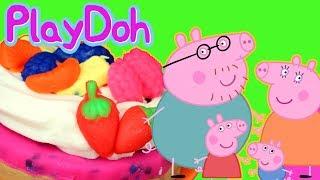 Świnka Peppa • Ciasto rodzinne Play Doh • bajka po polsku