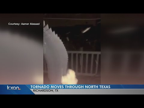 """""""We are in the tornado!"""" Man records scary video from inside Dallas-area twister"""