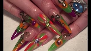 October colours - Acrylic Nails - How to using Brillbird Liquid and Powder