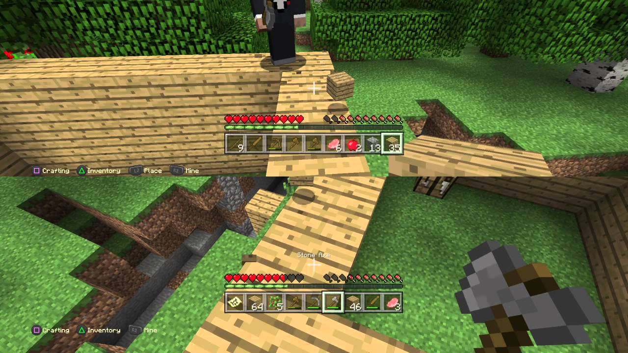 minecraft playstation 4 split screen survival ep 1 youtube. Black Bedroom Furniture Sets. Home Design Ideas