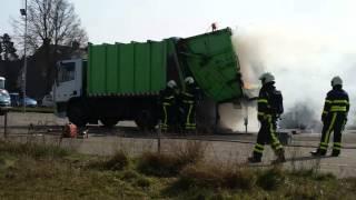 Brand Waalwijk vuilnisauto