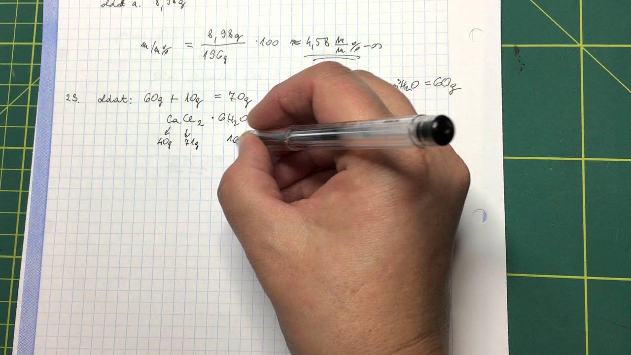 4df1596bab Oldatok tömegszázalékos összetétele III. - YouTube
