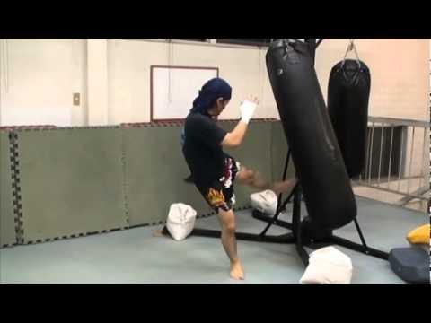 キックボクシング中島道場 40代オヤジのローキック練習