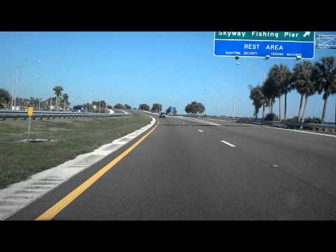 Awesome Drives: Driving Over Sunshine Skyway Bridge Tampa Bay
