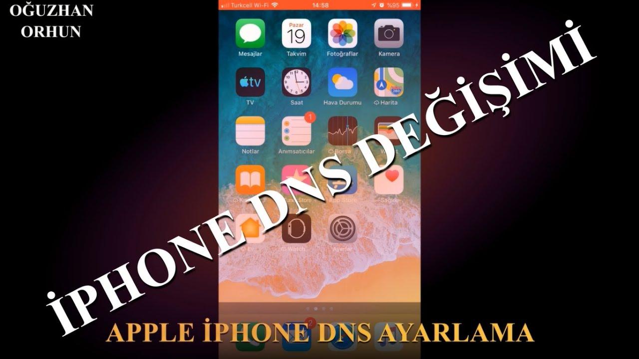 APPLE iPHONE DNS AYARLAMA / ENGELLİ SİTELERE GİRİŞ / GOOGLE VEYA FARKLI DNS GİRME
