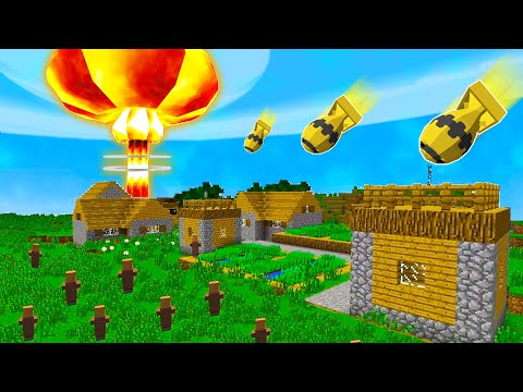 Testing NUCLEAR BOMBS In A Minecraft World (Huge Damage)