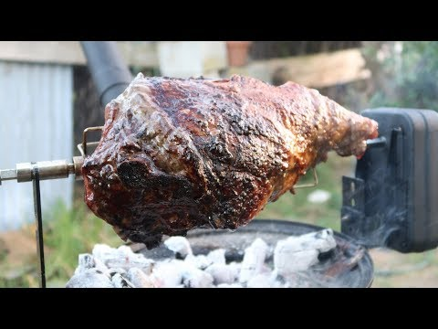 How To Cook A  Leg Of Lamb On The Ozpig Cooker With Rotisserie