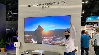 *NEW* 4K Epson LS500 Laser Projection TV?!  Epson PRO 3800 Launch!! CEDIA 2019 Day 1