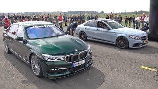 Mercedes-AMG C63S vs Alpina BMW B7 BiTurbo vs AMG GTS