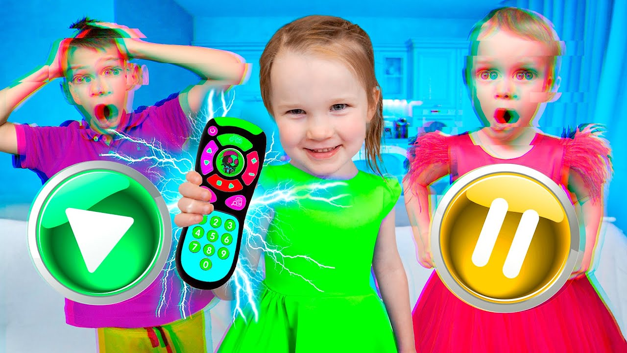 Five Kids Adventure with a Magical TV Remote NEW Funny Songs and Videos