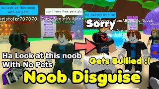 Noob Disguise Trolling! Got Bullied - Bubble Gum Simulator Roblox