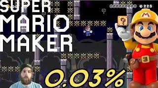 action skill MARIO   0.03% Platforming Level [SUPER MARIO MAKER]