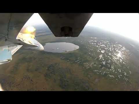 Russian Sukhoi Su-27 SM3 firing GS-30-1 cannon  in test range!!!