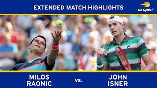 Extended Highlight: Milos Raonic vs. John Isner | 2018 US Open, R4