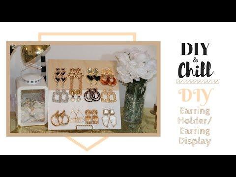 DIY Earring Holder|Earring Display