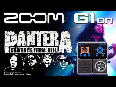 ZOOM G1on PANTERA Distortion G1xon [Patch Settings].